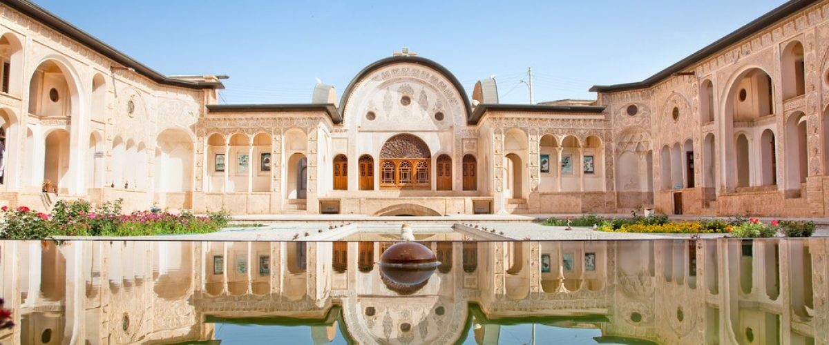 Magnificent Khan-e Tabatabei historic house in Kashan , Iran