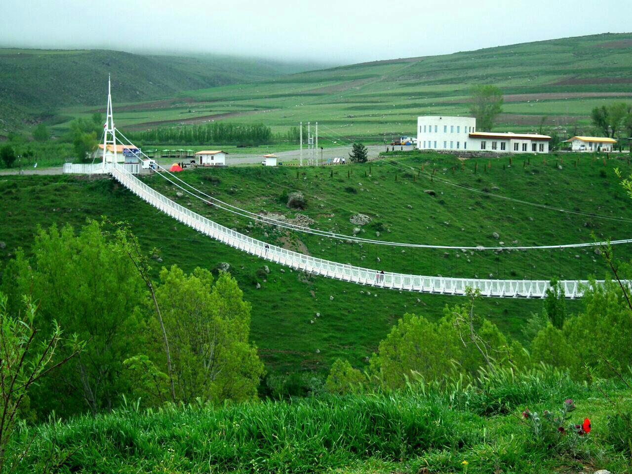 Meshginshahr suspension bridge